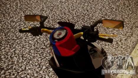 Honda Scoopy New Red and Blue для GTA San Andreas вид сзади слева