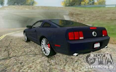 Ford Mustang GT 2005 для GTA San Andreas вид сзади слева