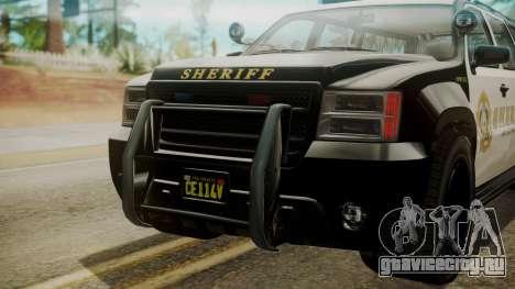 GTA 5 Declasse Granger Sheriff SUV IVF для GTA San Andreas вид сзади