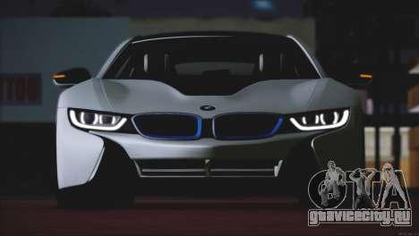BMW i8 Coupe 2015 для GTA San Andreas вид сзади