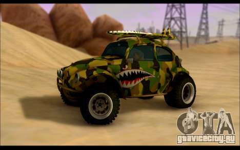 Volkswagen Baja Buggy Camo Shark Mouth для GTA San Andreas