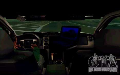 Ford F150 2015 Towtruck для GTA San Andreas вид сзади