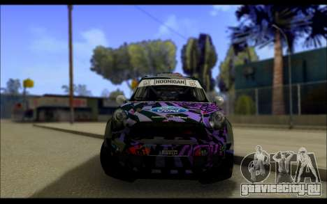 Mini Cooper Gymkhana 6 with Drift Handling для GTA San Andreas вид изнутри