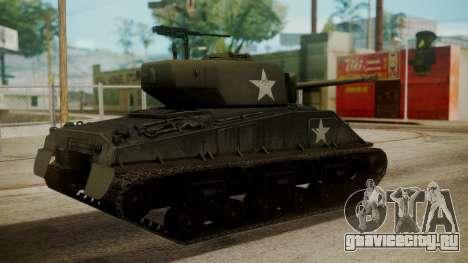 M4A3(76)W HVSS Sherman для GTA San Andreas вид слева
