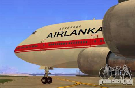 Boeing 747-200 Air Lanka для GTA San Andreas вид сзади слева