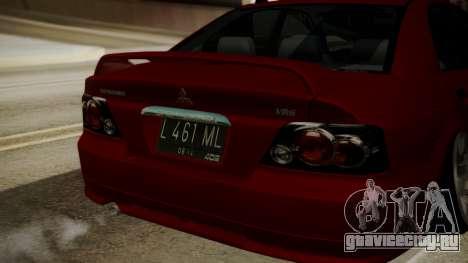 Mitsubishi Galant VR6 Stance для GTA San Andreas вид сзади