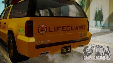 GTA 5 Declasse Granger Lifeguard IVF для GTA San Andreas вид сбоку