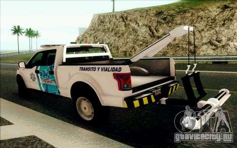 Ford F150 2015 Towtruck для GTA San Andreas вид справа