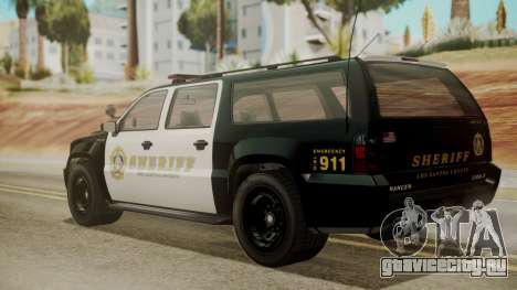 GTA 5 Declasse Granger Sheriff SUV IVF для GTA San Andreas вид слева