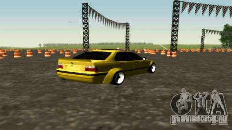 BMW 320i E36 Wide Body Kit для GTA San Andreas вид сзади слева