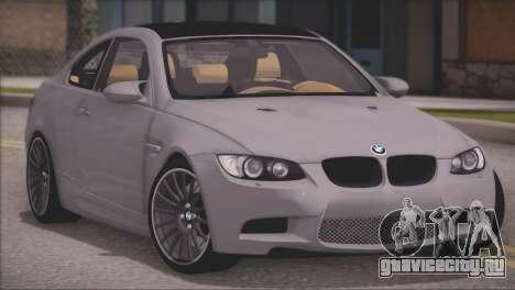 BMW M3 E92 2008 для GTA San Andreas вид слева