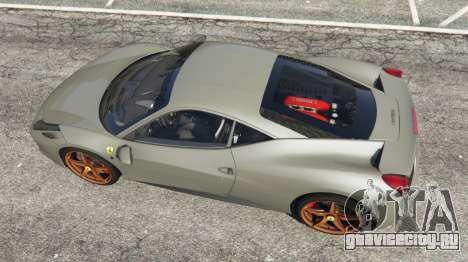 Ferrari 458 Italia 2009 v1.4 для GTA 5 вид сзади