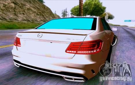 Mercedes-Benz E63 AMG для GTA San Andreas вид сзади слева