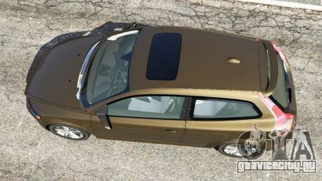 Volvo C30 T5 для GTA 5 вид сзади