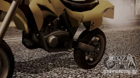 Sanchez SuperMoto для GTA San Andreas вид справа