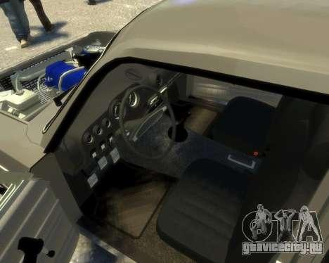 Ваз 2106 Kavkaz Style для GTA 4 вид изнутри