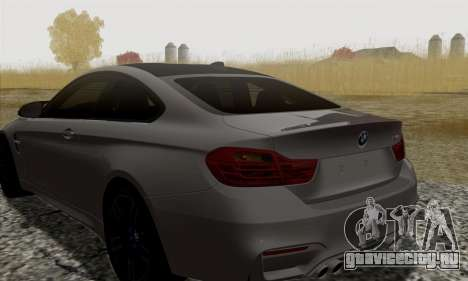 BMW M4 F82 для GTA San Andreas вид сзади