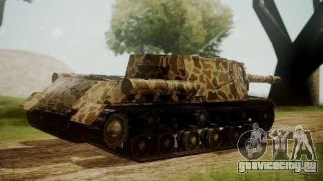 ISU-152 Panther Desert from World of Tanks для GTA San Andreas вид слева