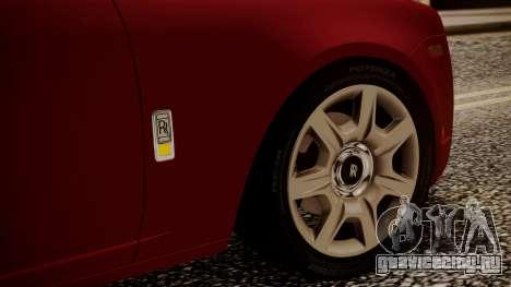 Rolls-Royce Ghost v1 для GTA San Andreas вид сверху