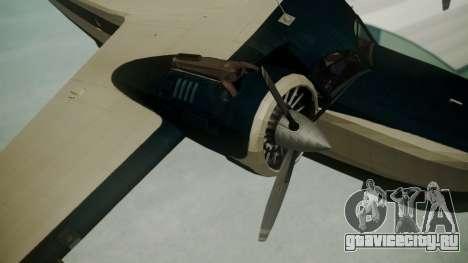 Grumman G-21 Goose Black and White для GTA San Andreas вид справа