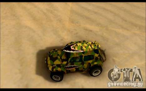 Volkswagen Baja Buggy Camo Shark Mouth для GTA San Andreas вид справа