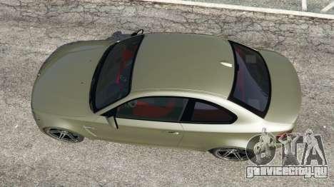 BMW 1M v1.2 для GTA 5 вид сзади