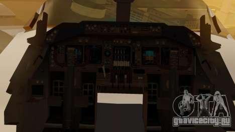Boeing 747-200 Fly US для GTA San Andreas вид изнутри