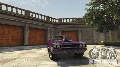 Plymouth Road Runner 1970 для GTA 5 вид справа