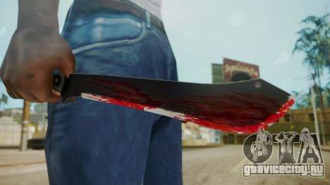 GTA 5 Machete (From Lowider DLC) Bloody для GTA San Andreas