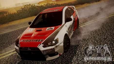 Mitsubishi Lancer Evolution X 2015 Final Edition для GTA San Andreas вид сбоку