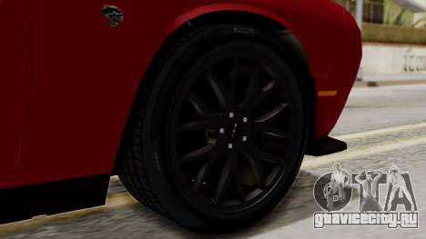 Dodge Challenger SRT Hellcat 2015 HQLM для GTA San Andreas вид сзади слева