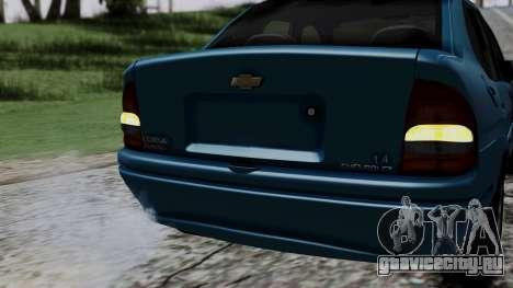 Chevrolet Corsa Classic 2009 v3 для GTA San Andreas вид снизу