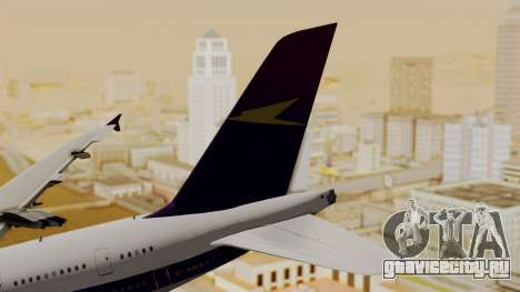 Airbus A380-800 British Overseas Airways Corp. для GTA San Andreas вид сзади слева