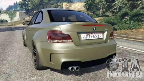 BMW 1M v1.2 для GTA 5 вид сзади слева
