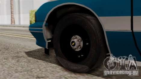 Chevy Caprice Station Wagon 1993-1996 NYPD для GTA San Andreas вид сзади слева