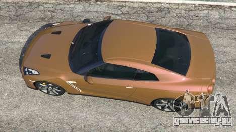 Nissan GT-R (R35) для GTA 5 вид сзади