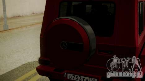 Mercedes-Benz G350 Bluetec для GTA San Andreas вид сзади