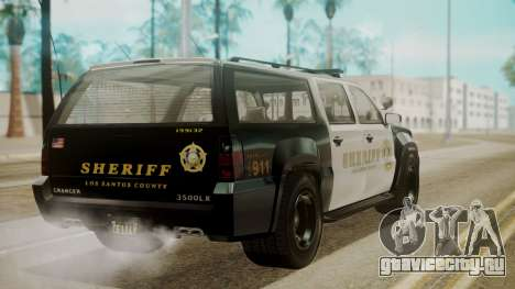 GTA 5 Declasse Granger Sheriff SUV для GTA San Andreas вид слева