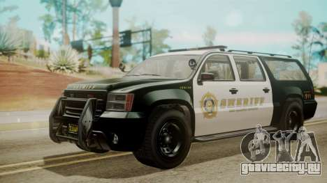 GTA 5 Declasse Granger Sheriff SUV IVF для GTA San Andreas