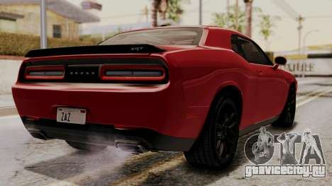 Dodge Challenger SRT Hellcat 2015 HQLM для GTA San Andreas вид слева