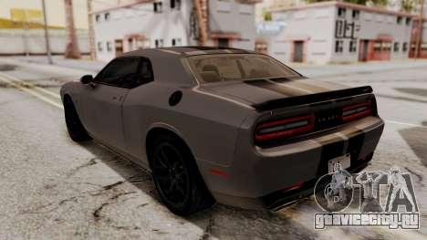 Dodge Challenger SRT Hellcat 2015 HQLM PJ для GTA San Andreas двигатель