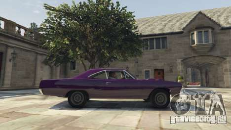 Plymouth Road Runner 1970 для GTA 5 вид слева