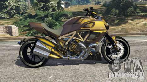 Ducati Diavel Carbon 11 v1.1 для GTA 5 вид слева