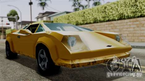 Infernus from Vice City Stories для GTA San Andreas вид сзади слева