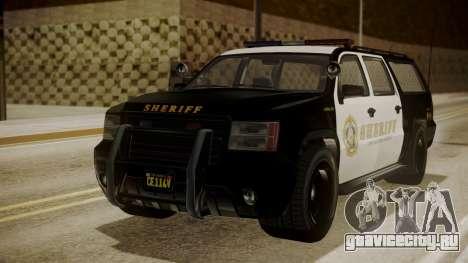 GTA 5 Declasse Granger Sheriff SUV для GTA San Andreas вид сзади слева