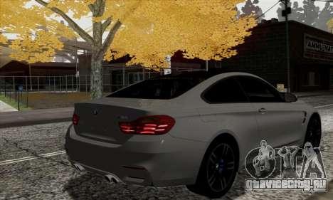 BMW M4 F82 для GTA San Andreas вид сзади слева