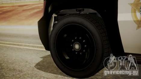GTA 5 Declasse Granger Sheriff SUV IVF для GTA San Andreas вид сзади слева