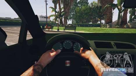 Seat Leon 2010 [BETA] v1.0 для GTA 5 вид сзади