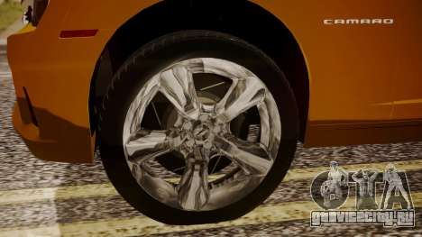 Chevrolet Camaro SS 2015 для GTA San Andreas вид сзади слева