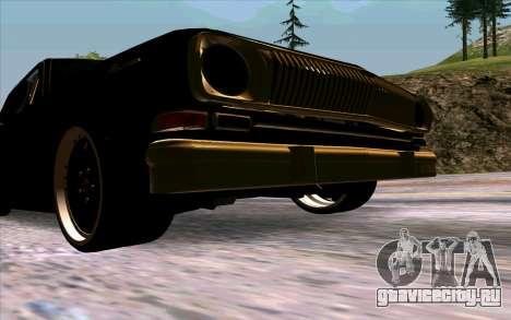 ГАЗ 24 Волга для GTA San Andreas вид изнутри